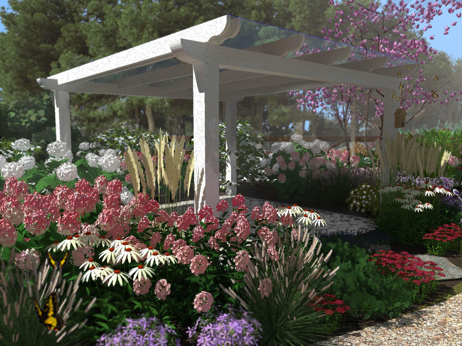 altana ogród angielski dworek