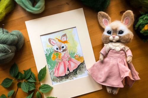 darmowa ilustracja króliczek